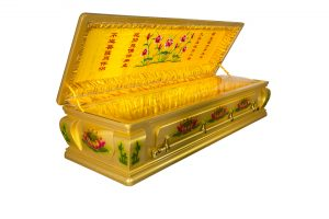 Full Glass Lotus Cremation Casket