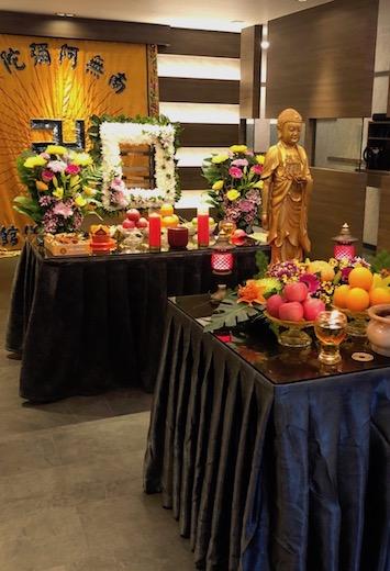Funeral Parlour Buddhist Setup